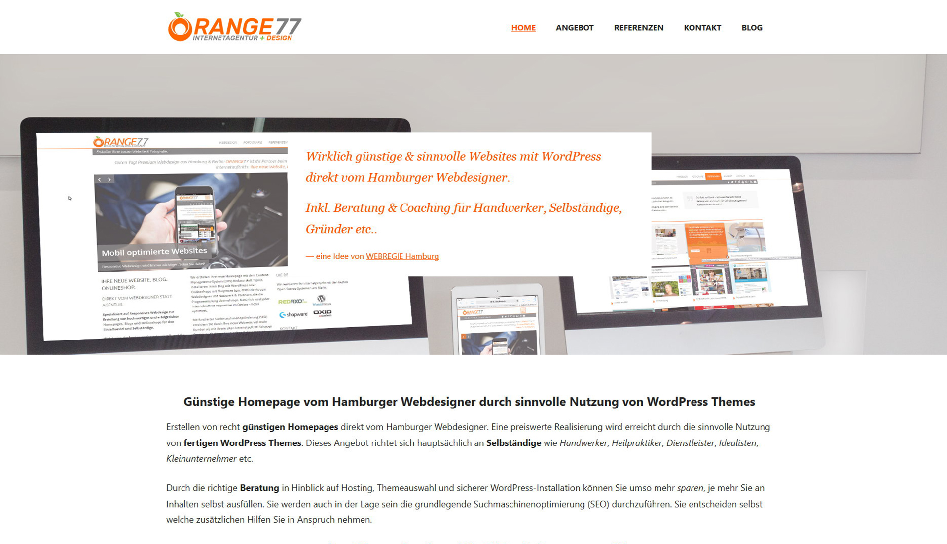 ORANGE77 WordPress Hamburg günstig
