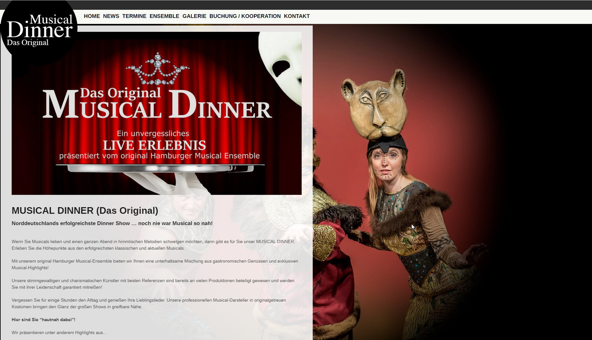 Original MUSical Dinner Onepager