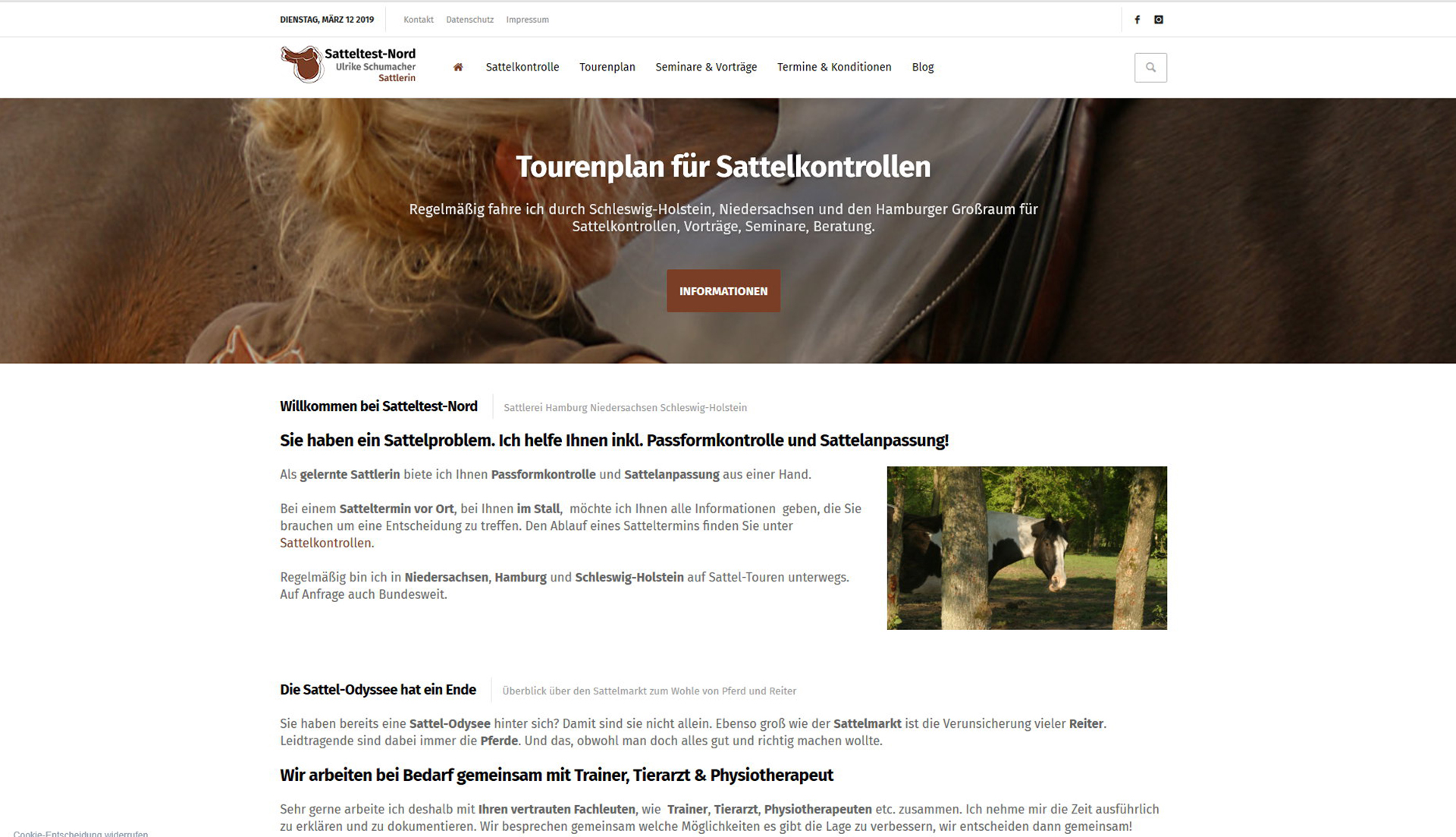Sattlerin Niedersachsen WordPress Business-Website
