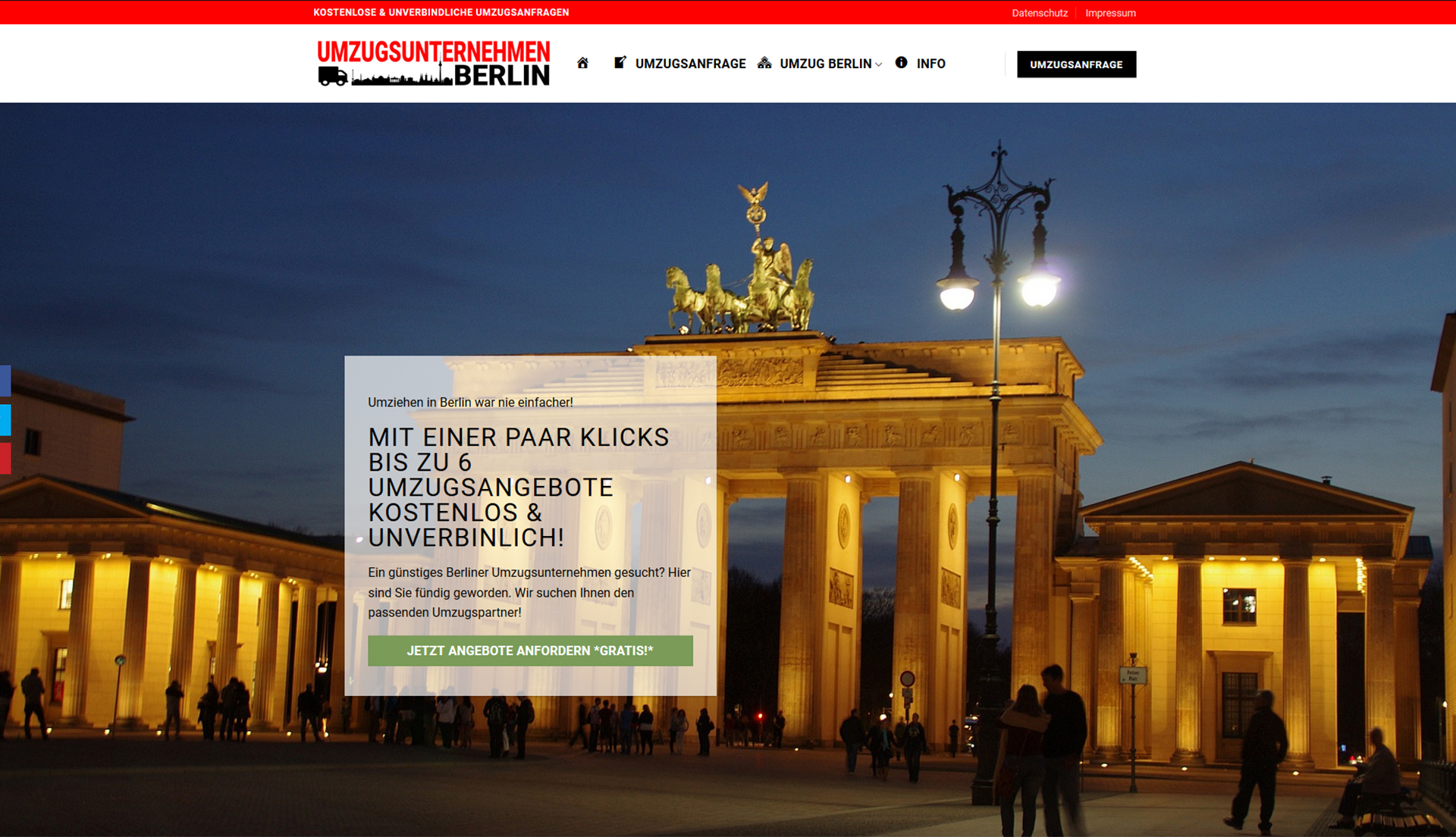 WordPress-Website Umzugsunternehmen Berlin