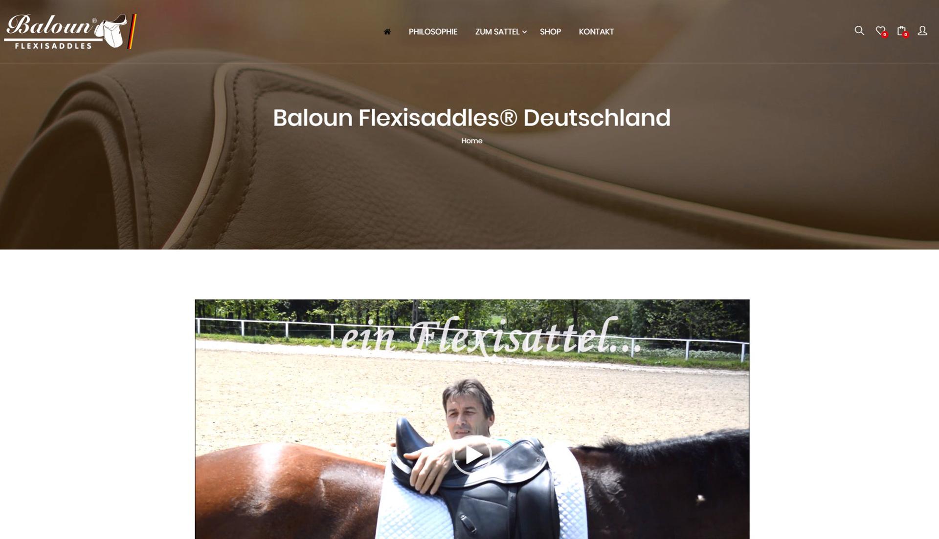 Baloun Pferdesattel Deutschland